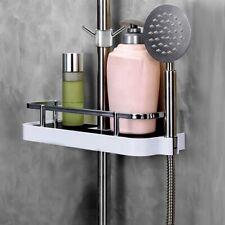ABS Plastic Bathroom Shelf Shower Racks Wall Mount no Drilling Shower Organiser