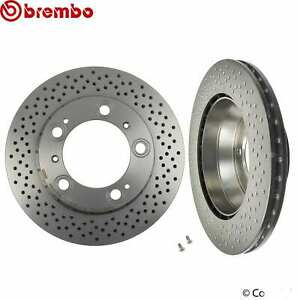 For Subaru Impreza WRX STI 2.5L Set of 2 Front Disc Brake Rotors Brembo 09781221