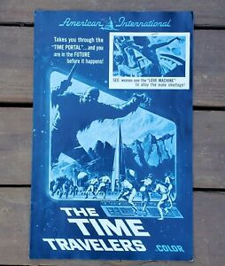 The Time Travelers Vintage Science Fiction Sci-Fi Movie Poster Order Ad Mat 1964