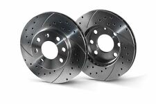 BMW 3 E46 325i 330i xi 330d 330xd rear 320mm drilled-grooved sport brake discs.