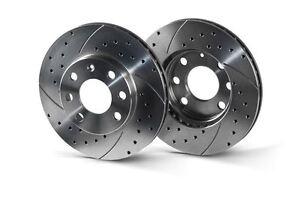 ALFA ROMEO 147, 156, GTV, SPIDER front 305mm drilled-grooved sport brake discs.