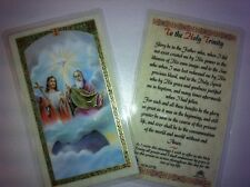HOLY PRAYER CARDS TO THE HOLY TRINITY SET OF 2 IN ENGLISH WITH FREE SHIP IN US!