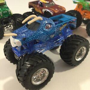 "1:64 Hot Wheels Monster Jam BLUE JURASSIC ATTACK Truck Die Cast 3.5"""