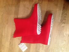 New John Lewis Children's Wellington Boots, Red size 4.