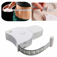 Retractable Body Tape Measure White Waist Weight Fitness Health Loss Aid Fat US