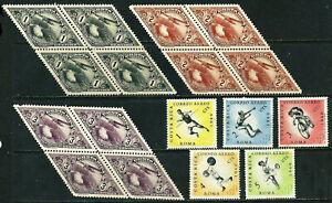 COSTA RICA 1937/60: 1. Costa-Rica-Messe x4 kpl.; Olympiade Rom (*) (L937)