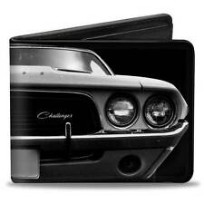 Men Wallet Bifold 1976 Dodge Challenger SRT Black & White Trucker Logo Genuine