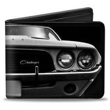 Men Wallet Bifold 1976 Dodge Challenger SRT Black & White Trucker Logo Genuine