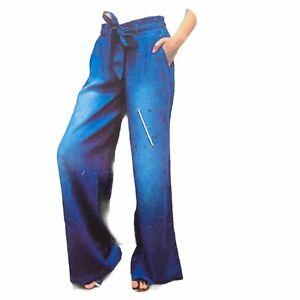 Rewash Juniors Belted Paperbag Style Wide Leg J Pants Sz Large NWT