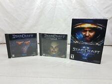 Starcraft 1998 w Expansion Brood War w Starcraft II Wings Of Liberty PC/Mac Game