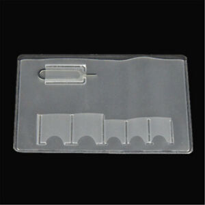 5X SIM Card Holder Storage Case For 5 Micro Sizes SIM Cards And Phone Eject Pin