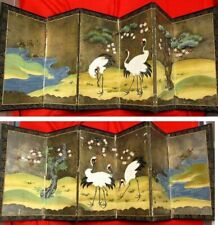 2  Japanese Byobu folding screens 50cm(59 inches) x 53cm (20.8 inches) each