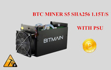 BTC Miner Bitcoin Mining Machine Asic With Power Supply S5 1.15T Usb Block Crypt