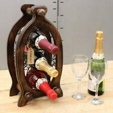 Nanda 3 Griglia per Bottiglie di Vino Jali Ironwork Legno Mango Cucina Pranzo
