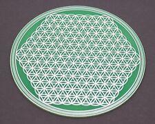 Detailed flower of life crystal grid, flower of life sacred geometry coaster