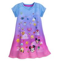Disney Store Emoji Nightshirt PJ's Girls Size 4 5/6 7/8 9/10 Minnie Mickey Alice