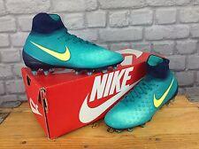NIKE BOYS UK 4 EU 36.5 MAGISTA OBRA II TEAL NEON YELLOW FOOTBALL BOOTS RRP £120