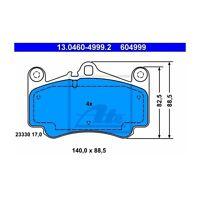 ATE 13.0460-4999.2 Bremsbelagsatz, Scheibenbremse  Links für Porsche 911