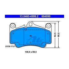 ATE 13.0460-4999.2 Bremsbelagsatz, Scheibenbremse  Links Porsche 911 Cabriolet
