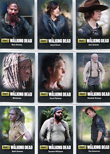 Walking Dead Season 4 Part 1 Character Bios Complete 9 Chase Card Set C01 to C09