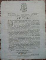 1797 MODENA: FESTA DELLA REPUBBLICA CISALPINA CHIAMATA 'DEL GIORNO AVVENTUROSO'