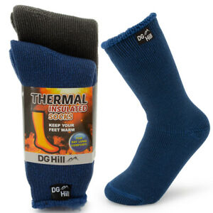 2 Pair Kids Warm Thermal Crew Socks Boot Socks Winter Insulated Heat Trapping