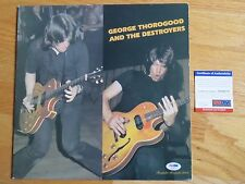 GEORGE THOROGOOD signed 1977 Record PSA / DNA One Bourbon One Scotch One Beer