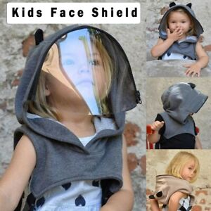 Child Full Face Protective Cap Anti-fog Saliva-proof Hat Face Shield Removable