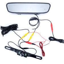 4.3'' TFT LCD rear view Mirror Monitor LED waterproof Car Parking backup camera