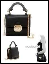 TED BAKER LONDON SKYLARR CRYSTAL & FAUX PEARL LEATHER SATCHEL BAG BLACK NWT $249
