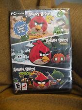 Angry Birds/Angry Birds Seasons/Angry Birds Space (PC, 2012) New Unopened