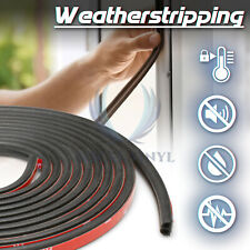 Door Insulation Rubber Weather Strips Draught Excluder Foam Window Noise Seal