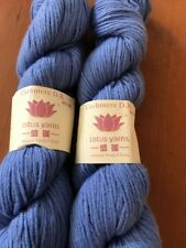 Lotus Yarns 100% Pure Cashmere DK Weight - 2 Skeins Blue color # 21, lot 1406