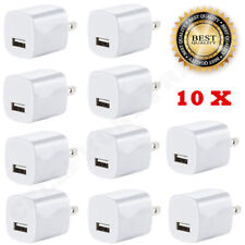 10 X White 1A USB Power Adapter AC Home Wall Charger US Plug FOR iPhone 5S 6 7 8