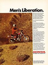 "1971 Honda Motosport SL-350 K1 Motorcycle photo ""A Freedom You Can Buy"" print ad"