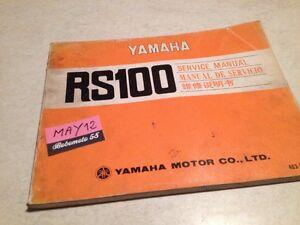 Yamaha RS100 Rs 100 Manual Revisión Técnica Moto Taller Workshop Manual