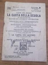 """CARTE DEL REGIME """" LA CARTA DELLA SCUOLA """" 1940 CAPODISTRIA ( ISTRIA )  L-6"""