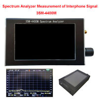 "4.3"" LCD 35M-4400M Handheld Spectrum Analyzer Tester Tracking Interphone Signal"