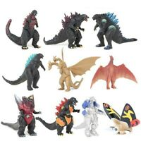 Godzilla Monster Mechagodzilla Trendmaster Gigan Anguirus 10Pc Action Figure Toy