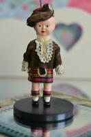 Fabulous VINTAGE Little Scottish Boy Doll - 12cm Tall (1950s/60s)