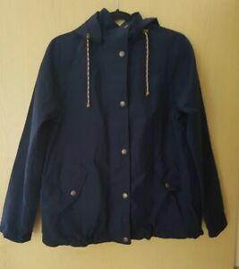 Fat Face Ladies Navy Waterproof Jacket Size 10
