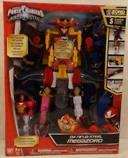 Power Rangers Ninja Steel Deluxe DX Megazord With Battle Gear 5 Zords Combine!
