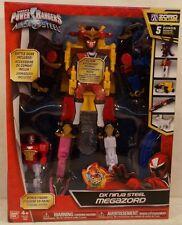 Power Rangers Ninja Steel Deluxe DX Megazord With Battle Gear 5 Zords Combine!
