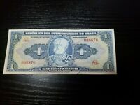 🇧🇷 Brazil Brasil 1 cruzeiro  P-132  1944 Banknote Currency Money  XF