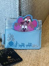 Loungefly Disney Cinderella Jaq & Gus Cardholder Blue Nwt