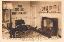 FREDERICKSBURG VA~BOYS ROOM~KENMORE~GEO. WASHINGTON'S SISTER HOME~PHOTO POSTCARD