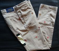 POLO Ralph Lauren Straight Fit University Chino Cachi Taglia 36/32