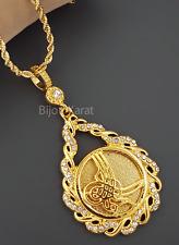 Tugra monedas cadena ceyrek 22 quilates de oro gp tüm altin kaplama Taki kuyumcu kolye