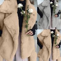 Size Women Fleece Fur Body Warmer Waistcoat Gilet Ladies Winter Jacket Coat Tops