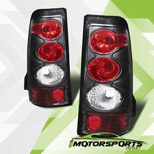 2003 2004 2005 2006 Chevy Silverado 1500/2500/3500 Black Clear Tail Lights Pair